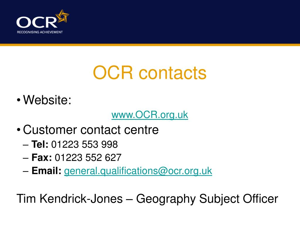 OCR contacts