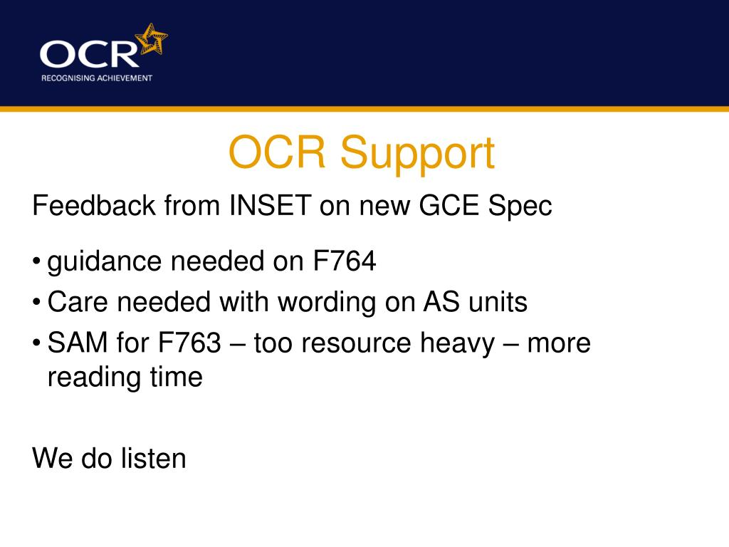 OCR Support
