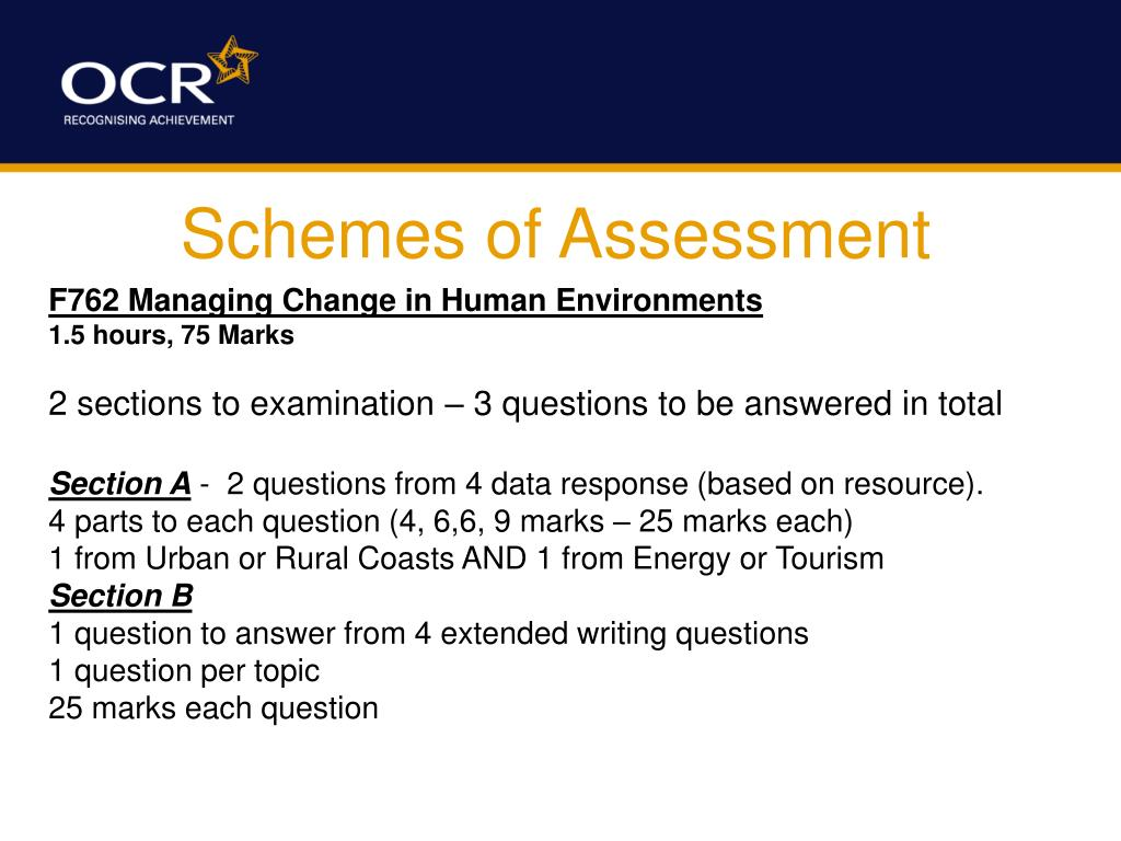 Schemes of Assessment