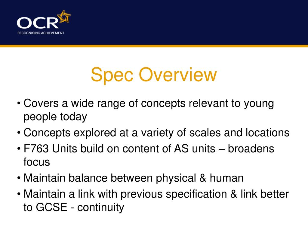 Spec Overview