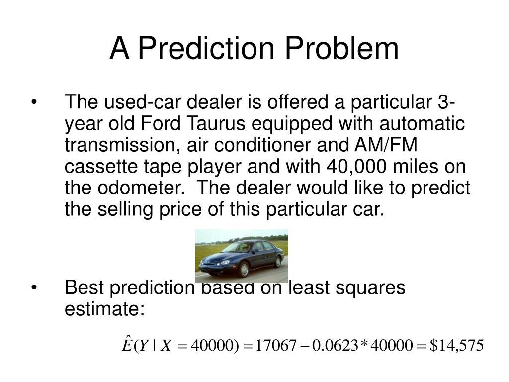 A Prediction Problem