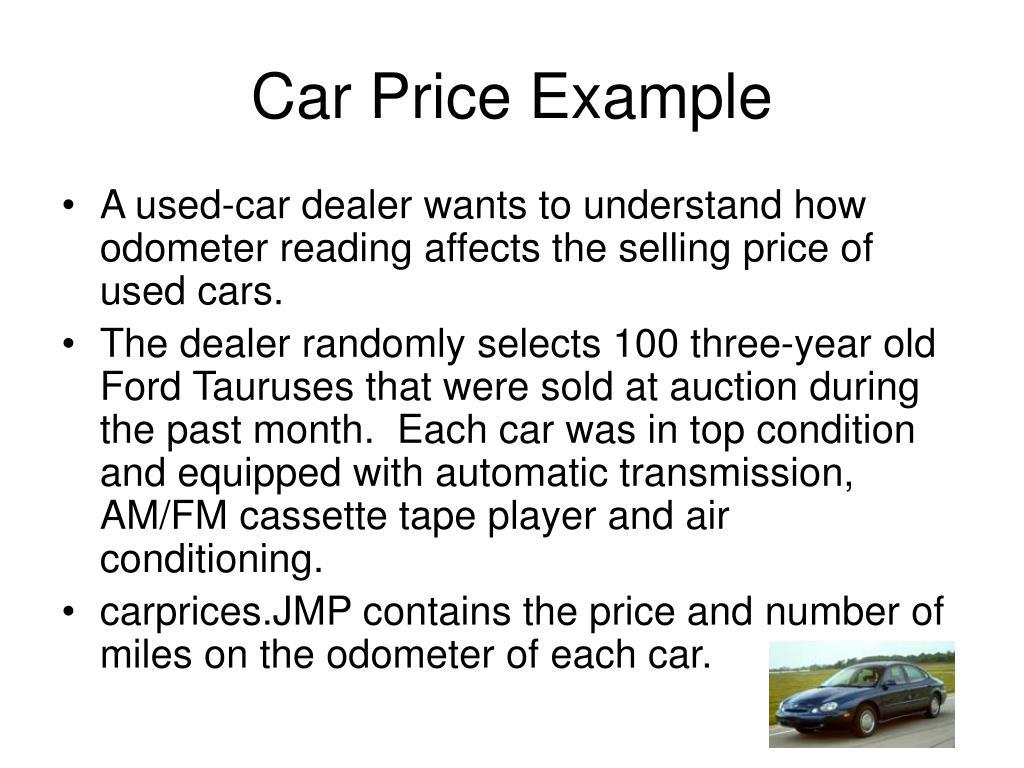 Car Price Example