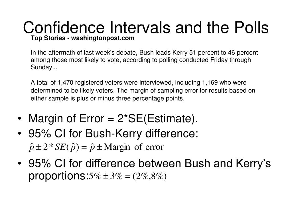 Confidence Intervals and the Polls