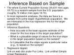 inference based on sample