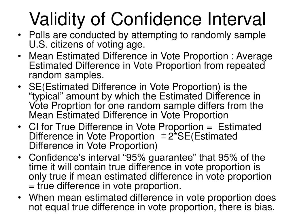Validity of Confidence Interval
