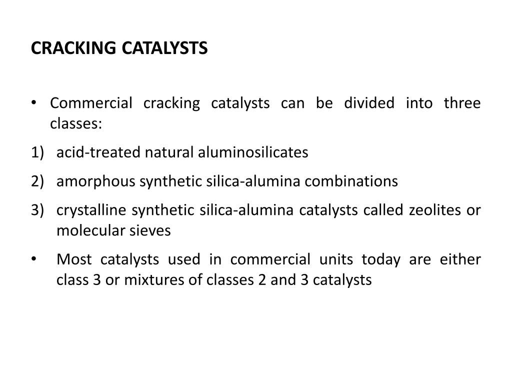 CRACKING CATALYSTS