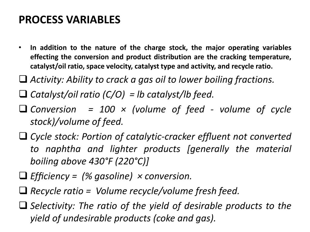 PROCESS VARIABLES