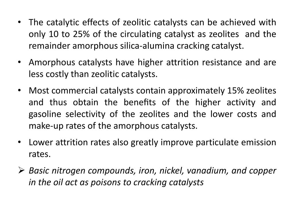 The catalytic effects of