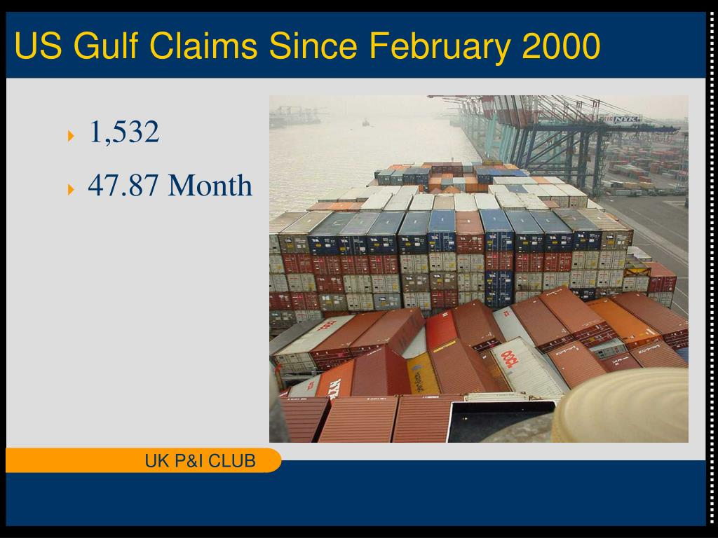 US Gulf Claims Since February 2000