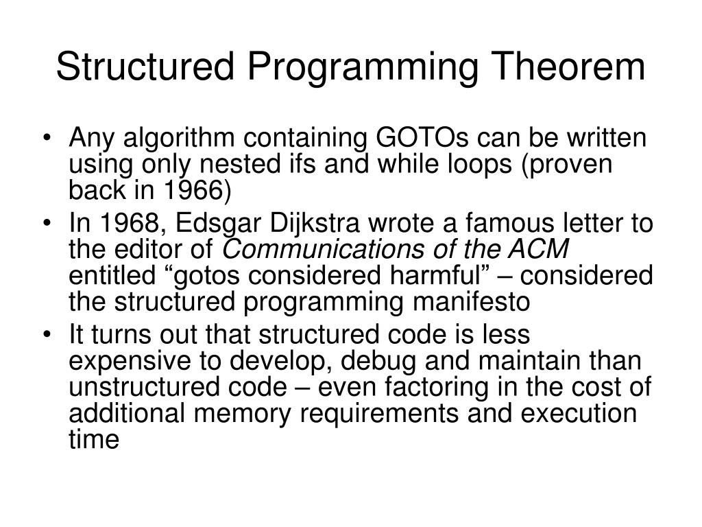 Structured Programming Theorem