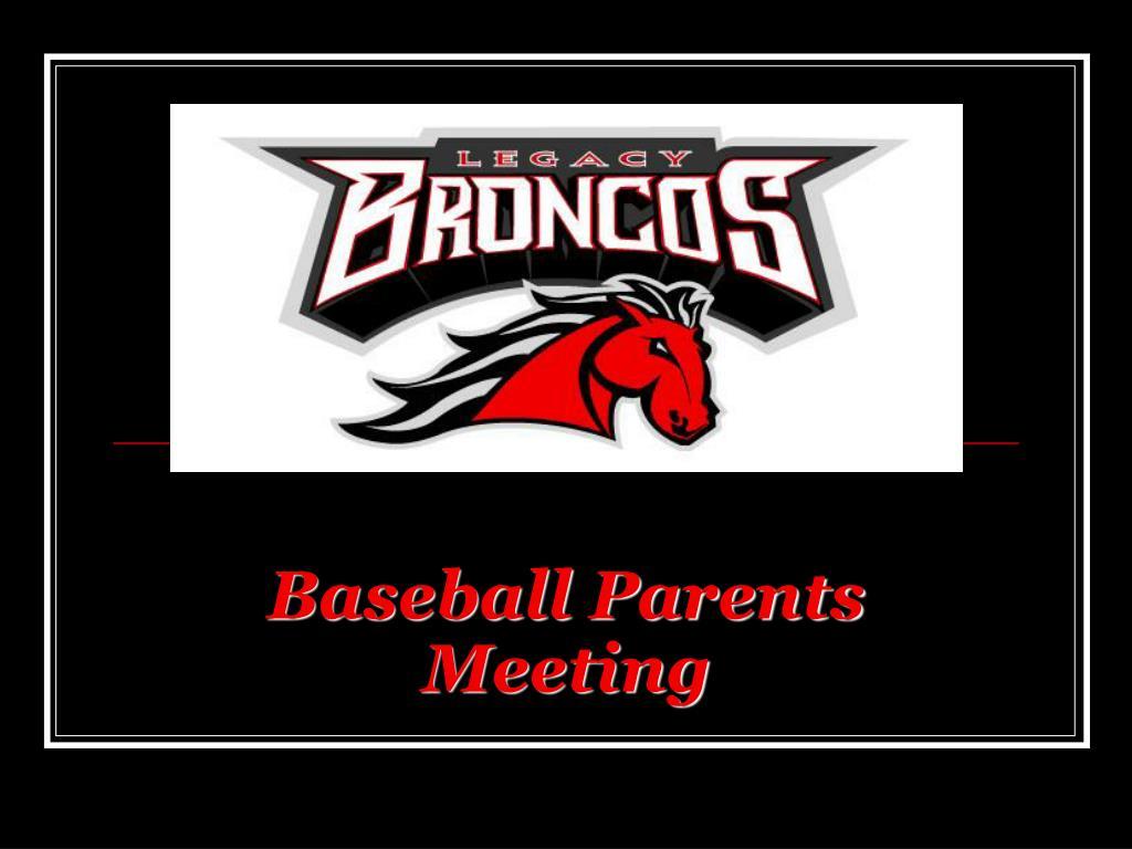 Baseball Parents Meeting