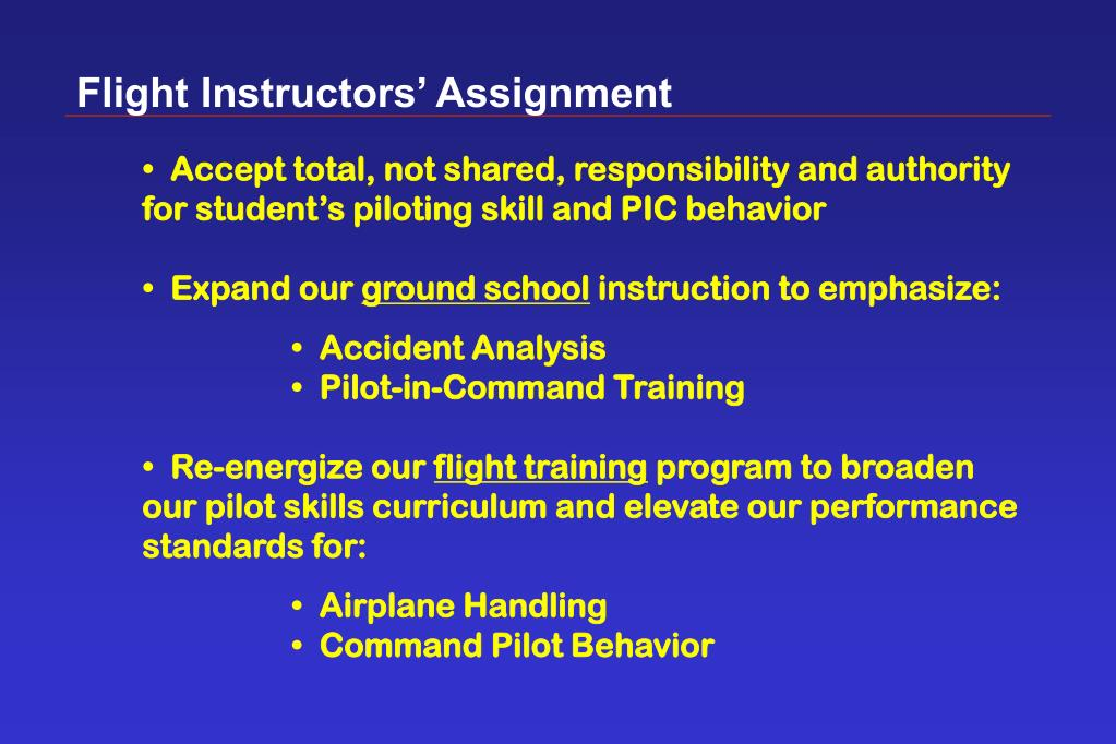 Flight Instructors' Assignment