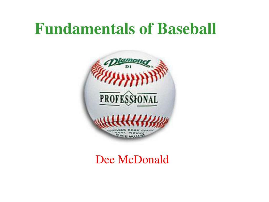 Fundamentals of Baseball