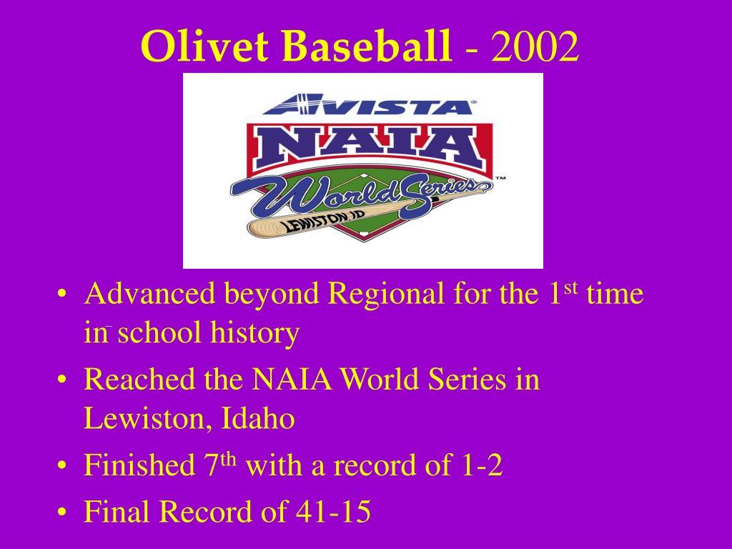 Olivet Baseball