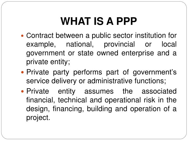 WHAT IS A PPP