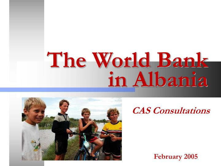 The world bank in albania