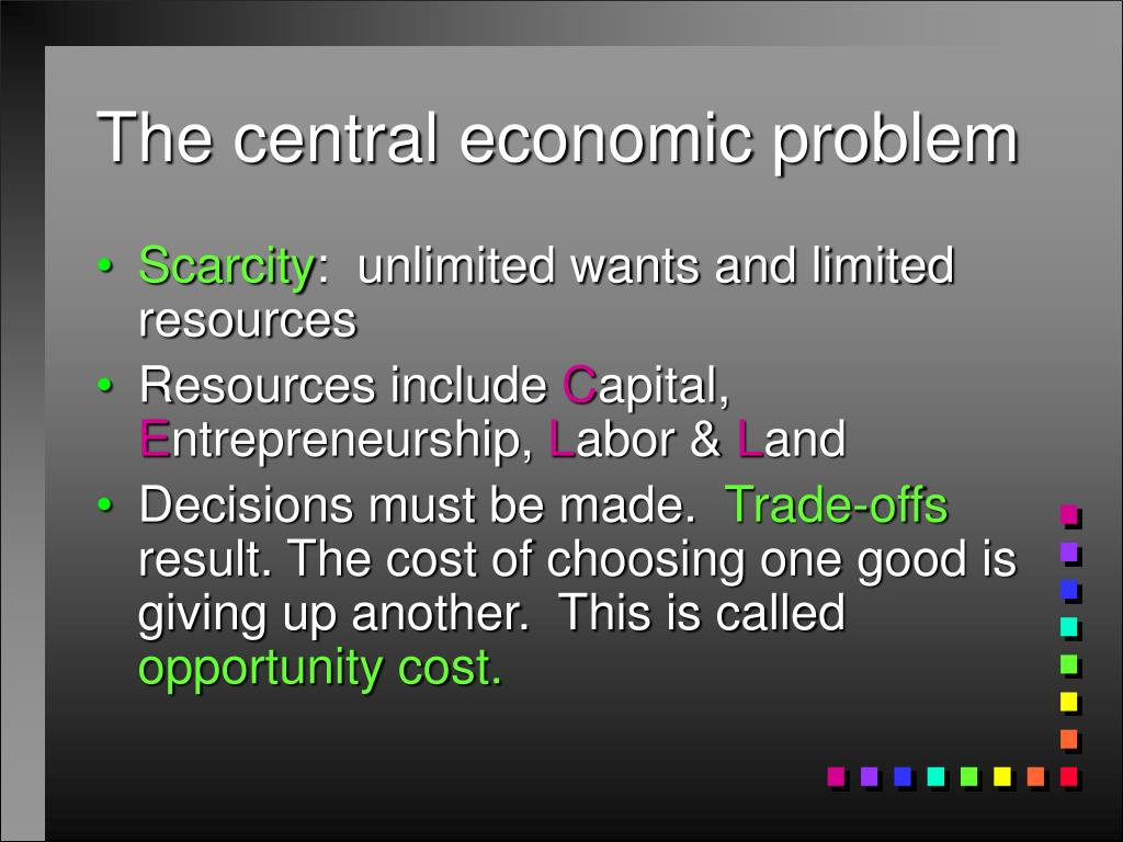 central economic problem A centrally planned economy is an economic system in which the state or government makes economic decisions rather than the these being made by the interaction between consumers and businesses.