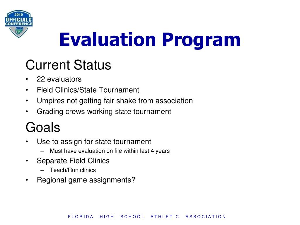 Evaluation Program