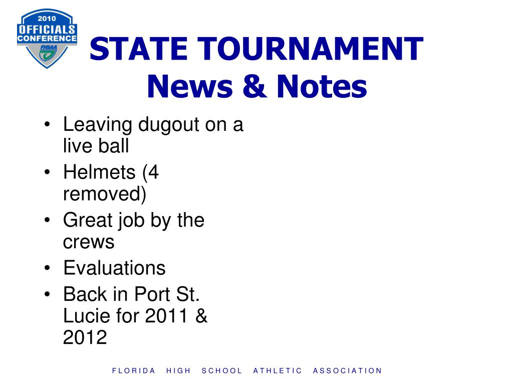STATE TOURNAMENT