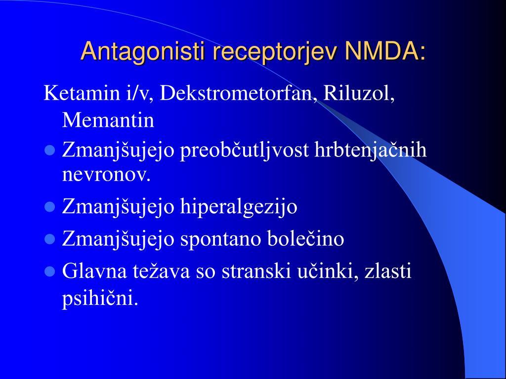 Antagonisti receptorjev NMDA: