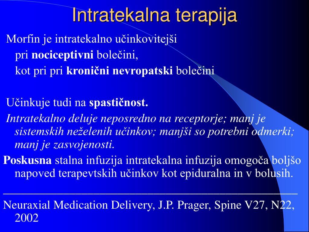 Intratekalna terapija