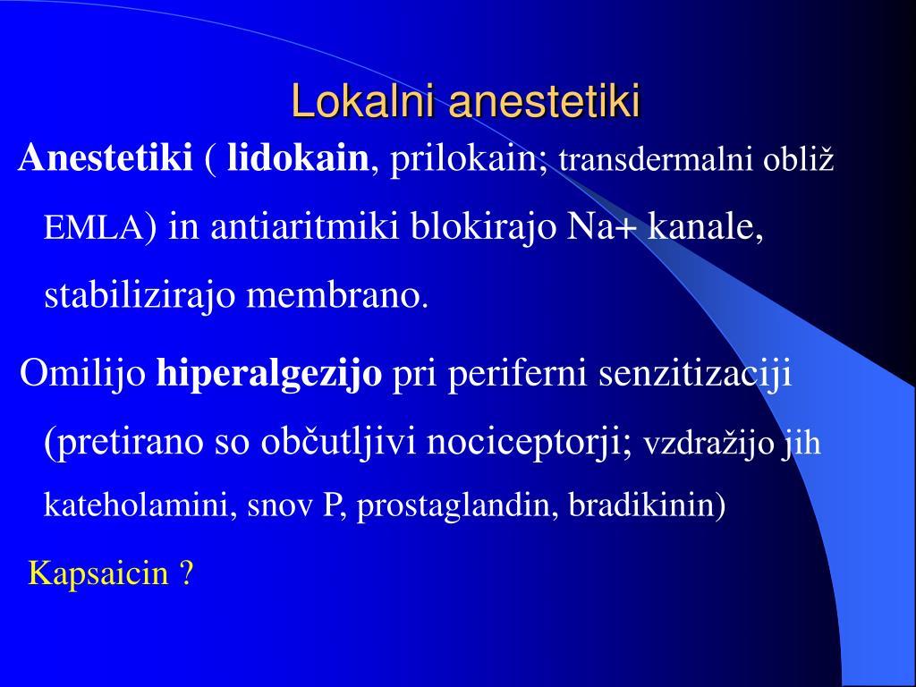 Lokalni anestetiki