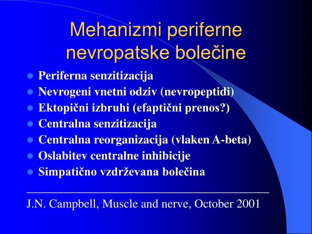 Mehanizmi periferne nevropatske bolečine