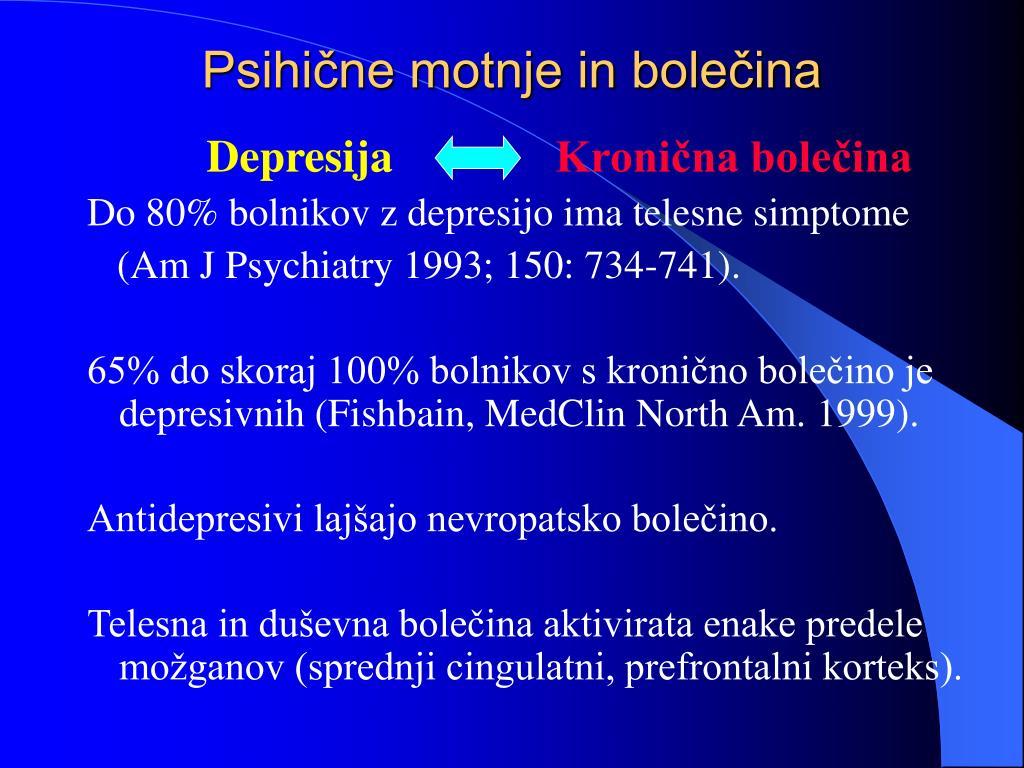 Psihične motnje in bolečina