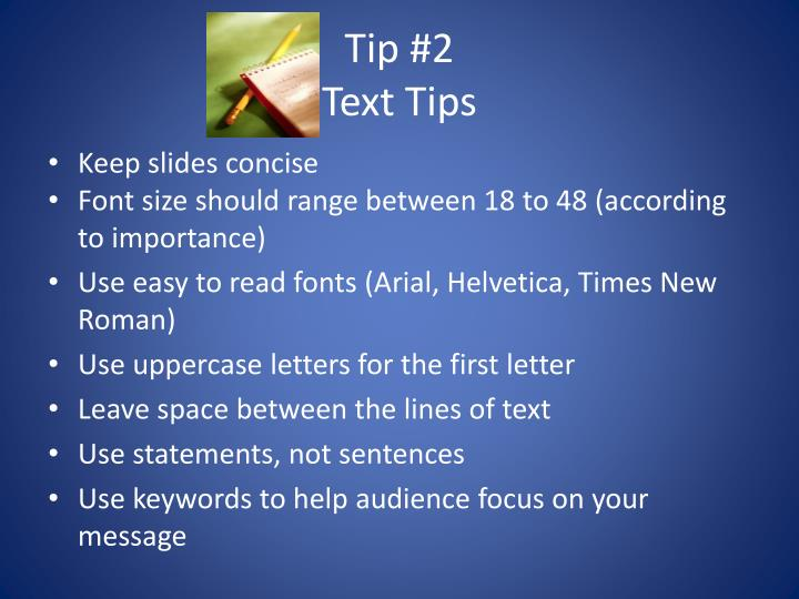 Tip 2 text tips