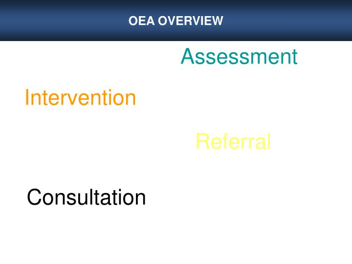 OEA OVERVIEW