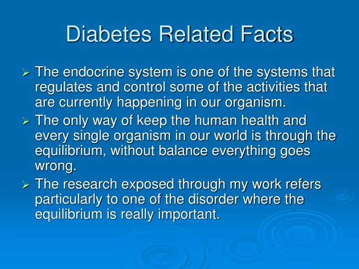 Diabetes related facts