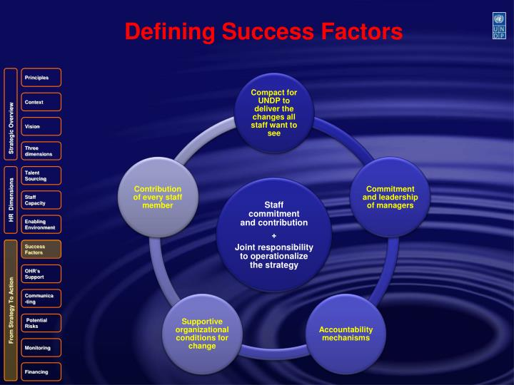 Defining Success Factors