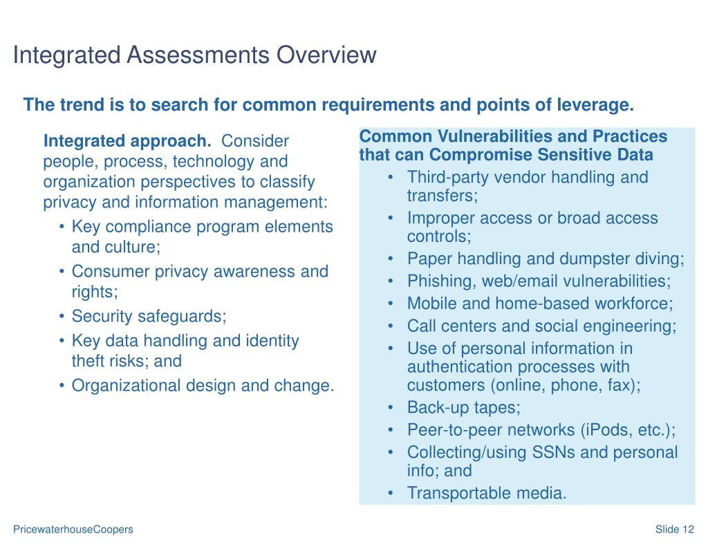 The trend is to search for common requirements and points of leverage.