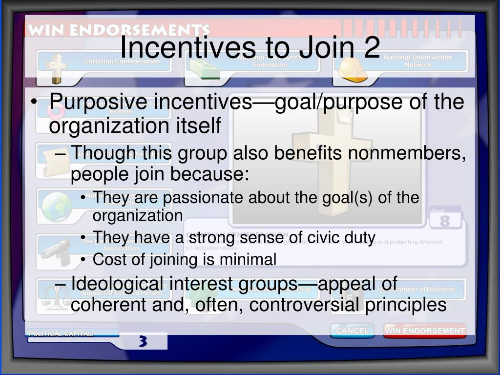 Incentives to Join 2
