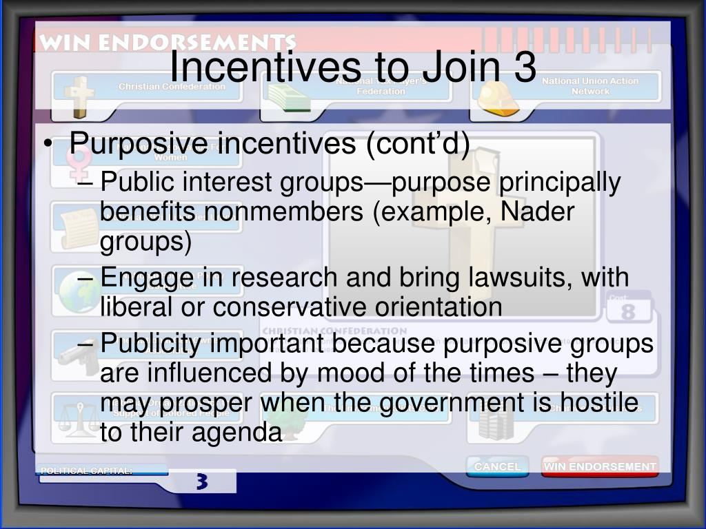 Incentives to Join 3
