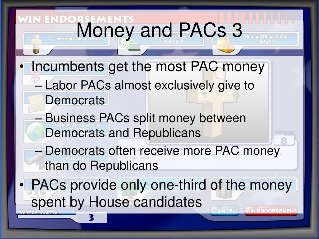 Money and PACs 3