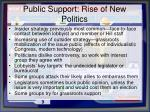public support rise of new politics