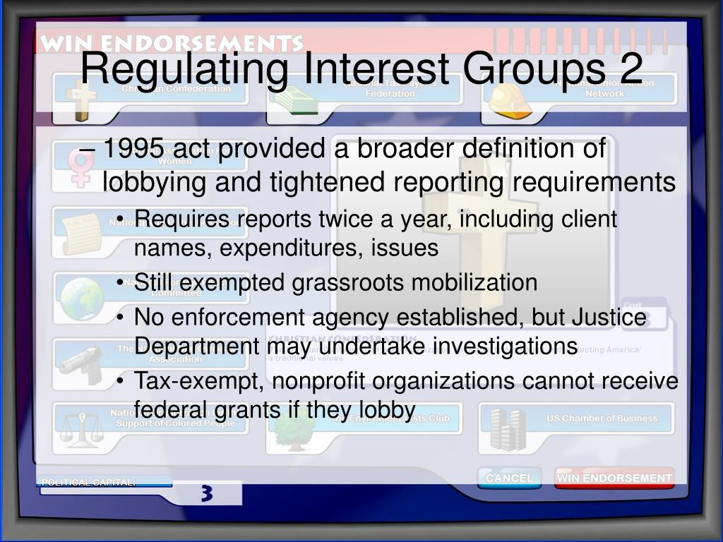 Regulating Interest Groups 2