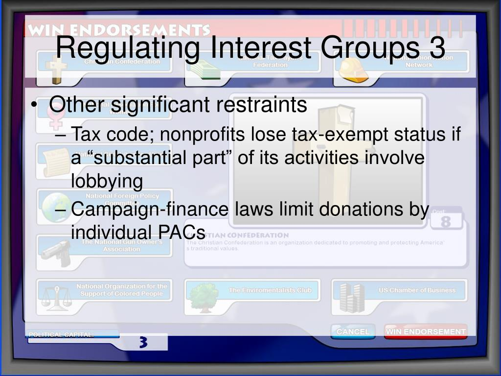 Regulating Interest Groups 3