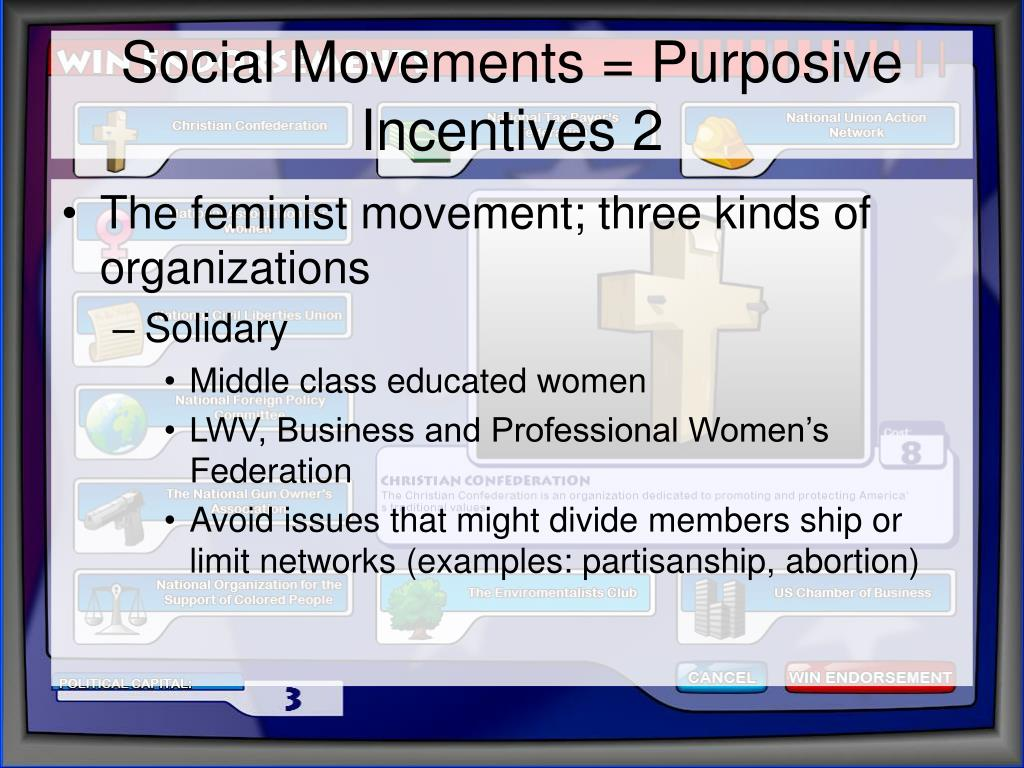 Social Movements = Purposive Incentives 2