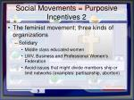 social movements purposive incentives 2