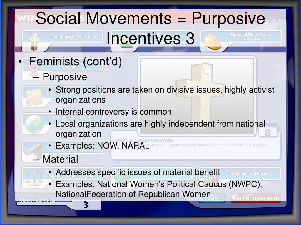 Social Movements = Purposive Incentives 3