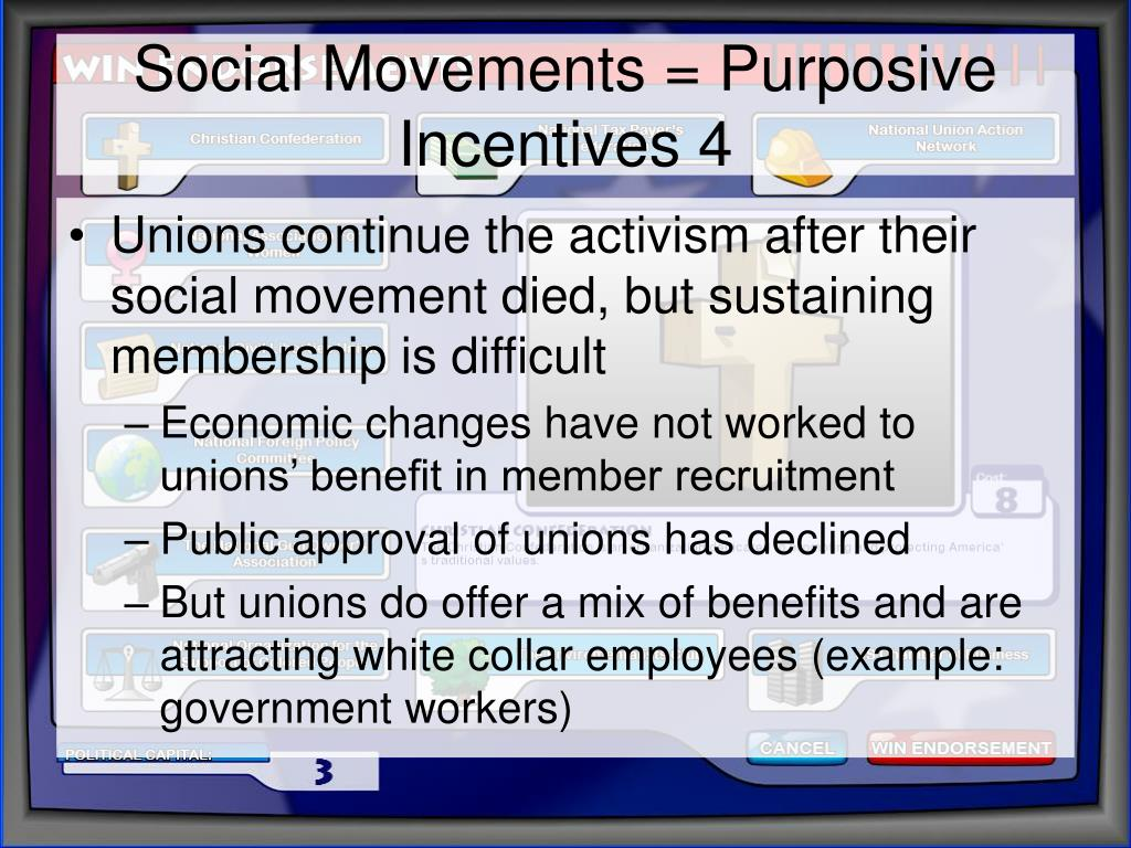 Social Movements = Purposive Incentives 4