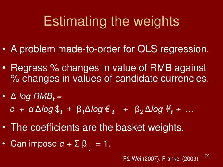 Estimating the weights
