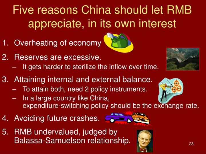 Five reasons China should let RMB appreciate, in its own interest