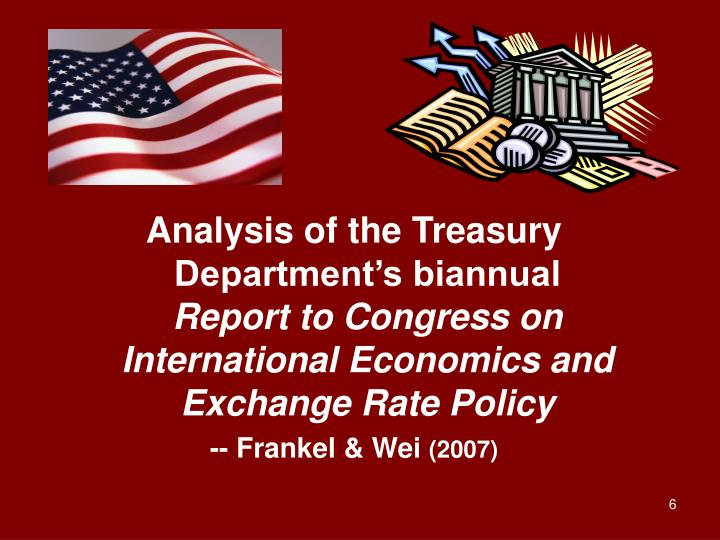 Analysis of the Treasury Department's biannual