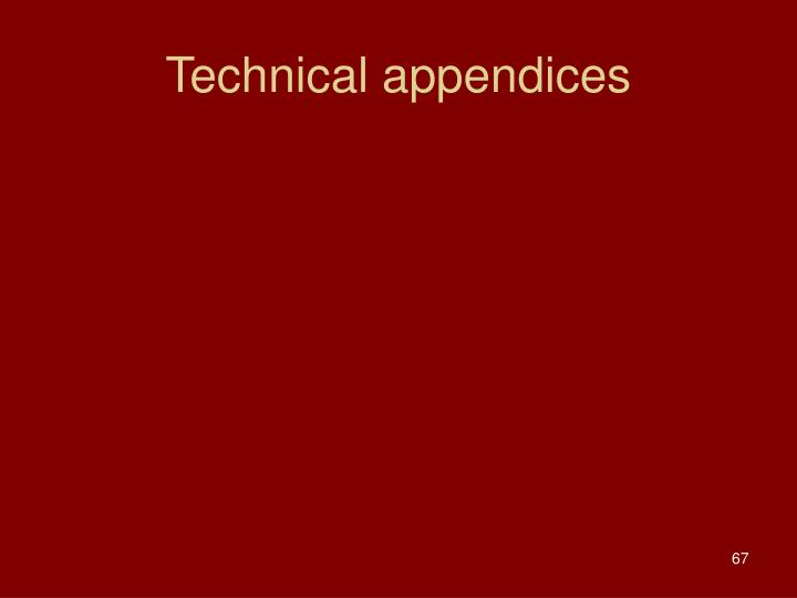 Technical appendices