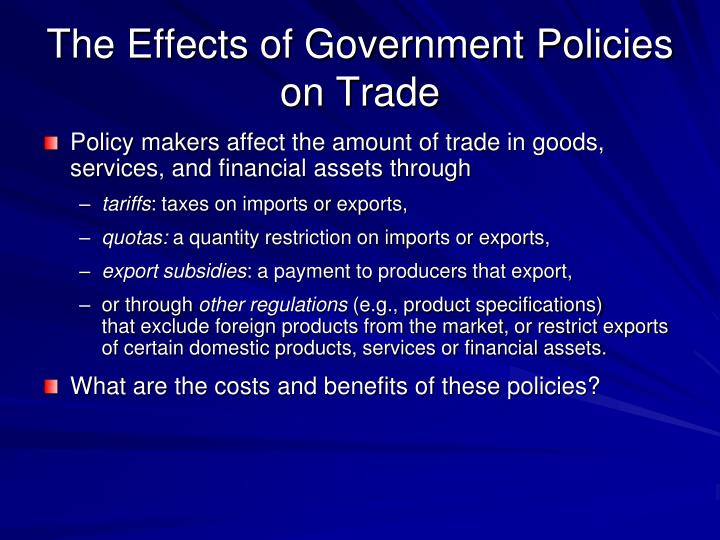 the effects of trade policy The impact of international free-trade agreements on job covering food policy and the journalist's resource is an open-access site that curates.