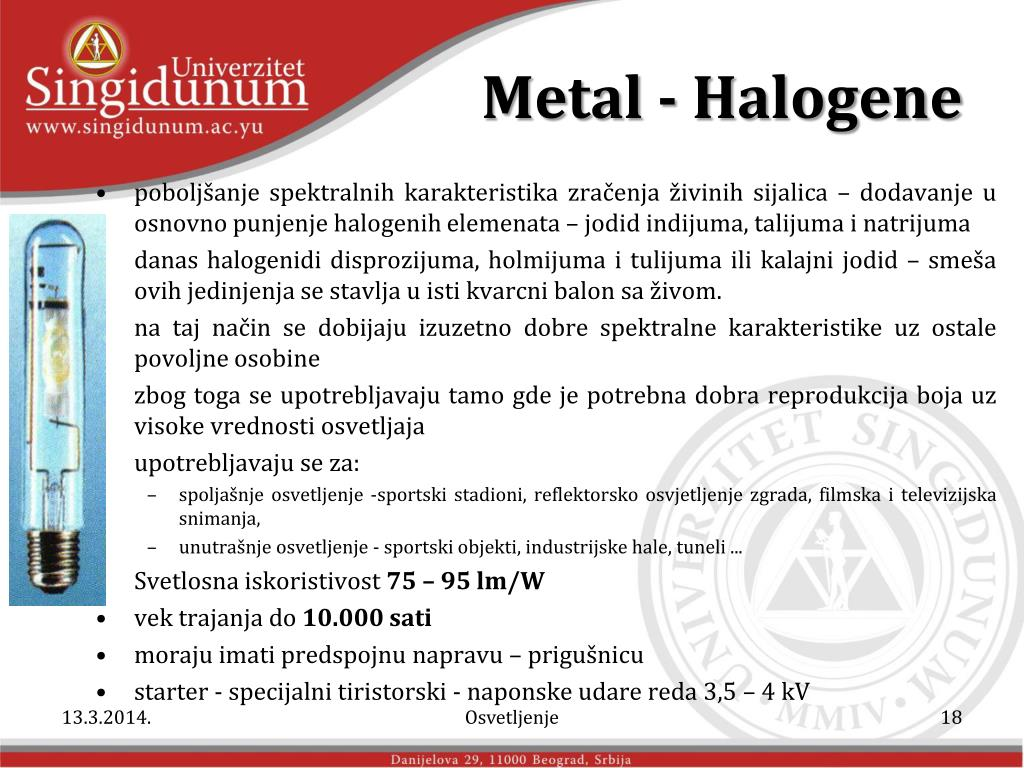 Metal - Halogene