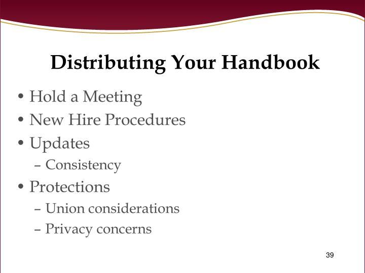 Distributing Your Handbook